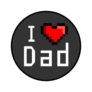 "OL5275 - 0.75"" Circle - 8-bit Father's Day Kisses Labels"