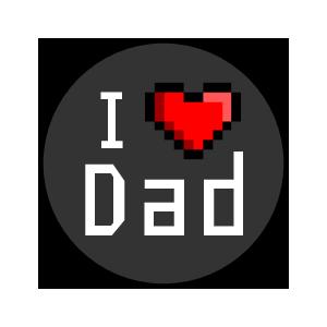 """OL5275 - 0.75"""" Circle - 8-bit Father"""