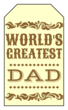 Western Father's Day Gift Tags