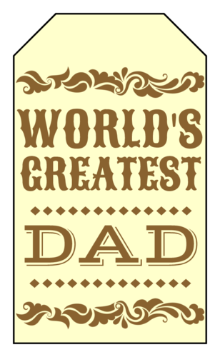 "OL1763 - 1.75"" x 3"" - Western Father's Day Gift Tags"
