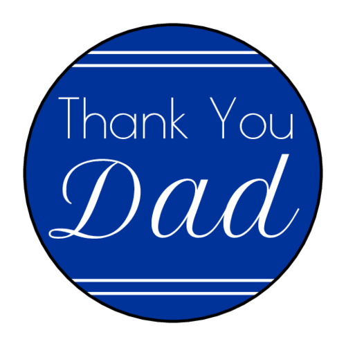 "OL2088 - 1.5"" Circle - ""Thank You Dad"" Father's Day Circle Labels"