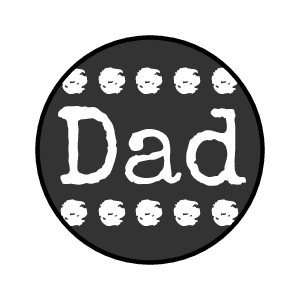 "OL5275 - 0.75"" Circle - Typewriter Father's Day Kisses Labels"