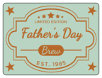 Father\'s Day Beer Bottle Label
