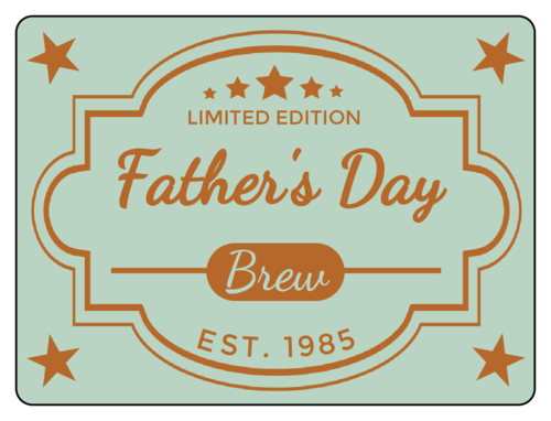 Father's Day Beer Bottle Label pre-designed label template for OL500