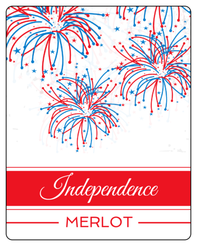 "OL162 - 3.75"" x 4.75"" - Fourth of July Fireworks Wine Bottle Labels"