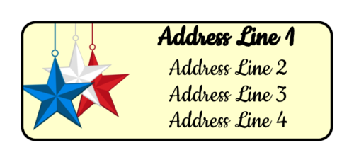 "OL385 - 1.75"" x 0.666"" - Patriotic Address Labels"