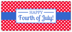 Polka Dot Fourth of July Water Bottle Labels