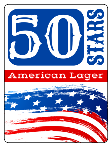 "OL500 - 4"" x 3"" - ""50 Stars"" Fourth of July Beer Bottle Labels"