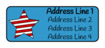 Striped Star Fourth of July Address Label