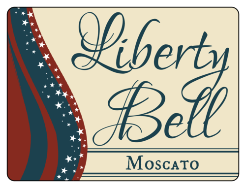 """Liberty Bell"" Fourth of July Wine Bottle Label pre-designed label template for OL500"