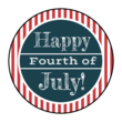 Striped Fourth of July Circle Labels