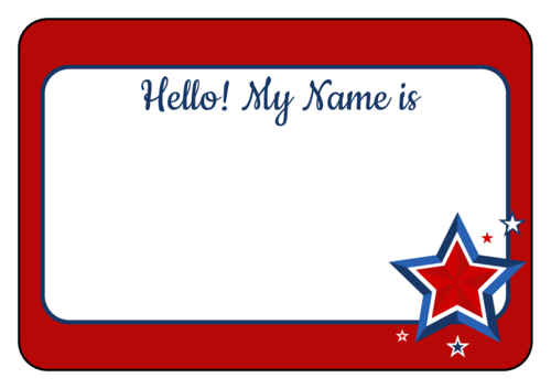 "OL5030 - 3.375"" x 2.3125"" - Fourth of July Name Tag Labels"