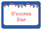 Stars and Stripes Banner Snack Labels