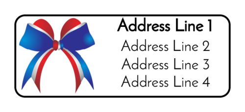 "OL385 - 1.75"" x 0.666"" - Fourth of July Bow Address Labels"