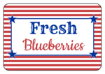 Striped Fourth of July Snack Labels