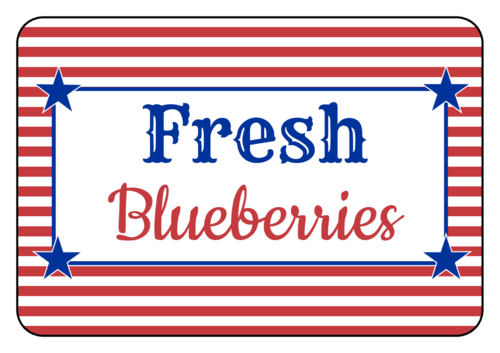 Striped Fourth of July Snack Labels pre-designed label template for OL5030