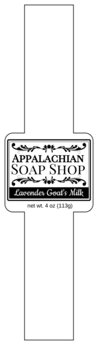 Apothecary Style Soap Label pre-designed label template for OL1030