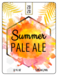 Tropical Summer Beer Bottle Label