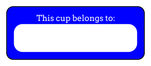 "OL875 - 2.625"" x 1"" - ""This cup belongs to"" Solo Cup Labels"