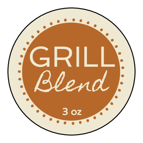 Circle Spice Label pre-designed label template for OL5375