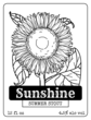 Sunflower Beer Bottle Label