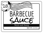 Rustic Barbecue Sauce Label