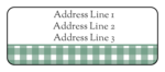 Green Flannel Address Label