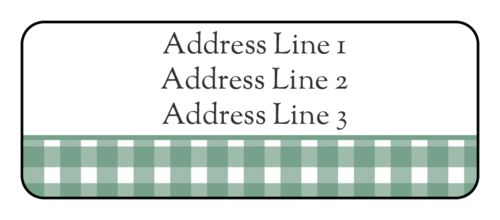 "OL875 - 2.625"" x 1"" - Green Flannel Address Label"