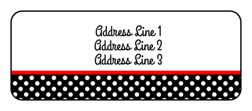 "OL875 - 2.625"" x 1"" - Polka Dot Address Label"