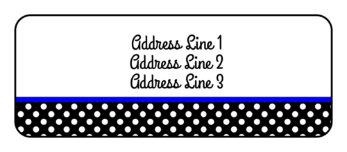 polka dot address label - label templates