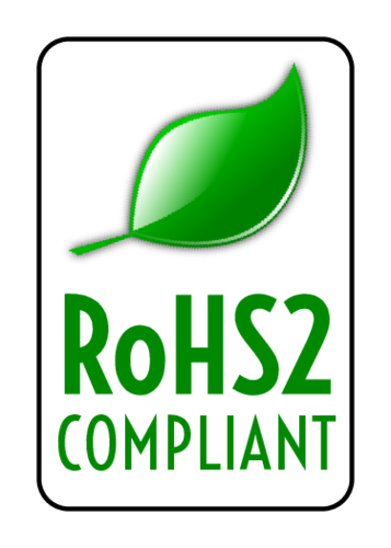 """RoHS2 Compliant"" Label pre-designed label template for OL1000"