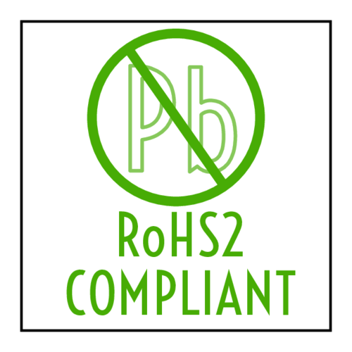 """RoHS2 Compliant"" Square Label pre-designed label template for OL5175"