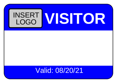 Visitor Name Tag Labels Label Templates OL OnlineLabelscom - Visitor badge template