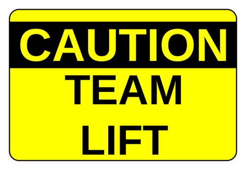 "OL996 - 3"" x 2"" - Team Lift Labels"