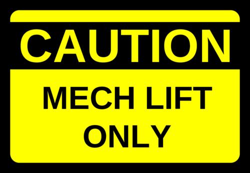 Mech Lift Labels pre-designed label template for OL996