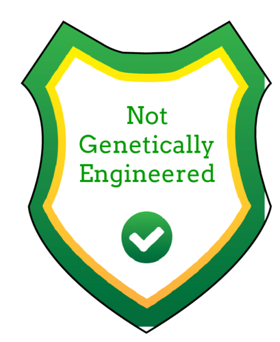 """Not Genetically Engineered"" Shield Labels pre-designed label template for OL2934"