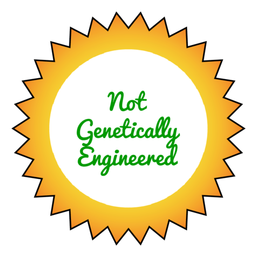 """Not Genetically Engineered"" Starburst Labels pre-designed label template for OL138"