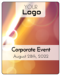 Bokeh Corporate Event Wine Bottle Labels