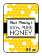 Honeycomb Honey Bottle Labels