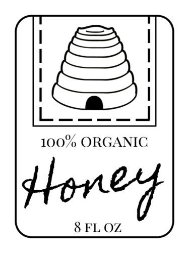 Beehive Honey Bottle Labels pre-designed label template for OL1905