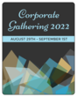Blue Corporate Gathering Wine Bottle Labels