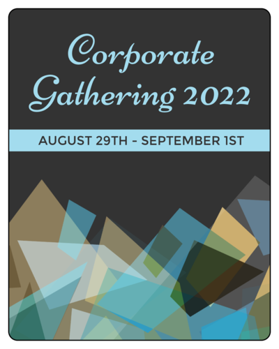 "OL162 - 3.75"" x 4.75"" - Blue Corporate Gathering Wine Bottle Labels"