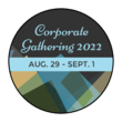 Blue Corporate Gathering Circle Labels