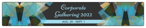 "OL435 - 8.1875"" x 1.375"" - Blue Corporate Gathering Water Bottle Labels"