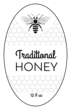 Oval Honey Bottle Label