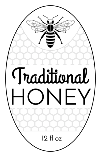 Oval Honey Bottle Label - Label Templates - OL894 - OnlineLabels.com