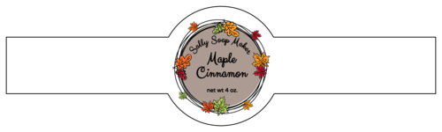 Wreath wrap-around label template.