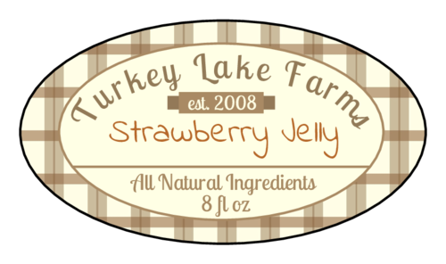 "OL9830 - 2.5"" x 1.375"" Oval - Flannel Jar Labels"