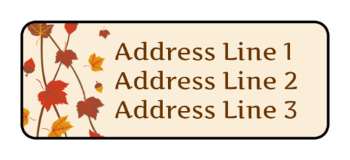 "OL385 - 1.75"" x 0.666"" - Autumn Leaves Address Labels"