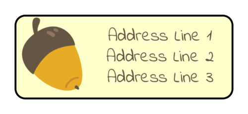 "OL385 - 1.75"" x 0.666"" - Autumn Acorn Address Labels"
